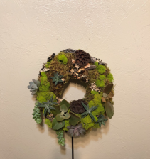 Down By the River Custom Succulent Wreath