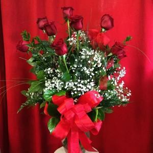 Doz red fancy roses roses in Visalia, CA | Peter Perkens Flowers & Bakersfield Flower Market