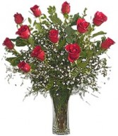 Doz. Red Roses         vased