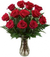 DOZEN 50CM RED ROSES