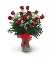 Dozen Classic Rose Vase