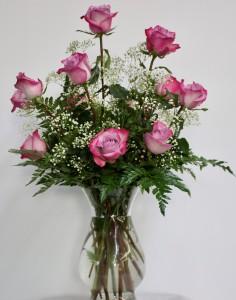 Dozen Deep Purple Long Stem Roses
