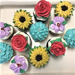 Dozen Flower Cupcakes Sweet Blossoms  in Jamestown, NC | Blossoms Florist & Bakery