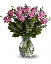 Dozen Lavendar Roses Fresh Rose Arrangment