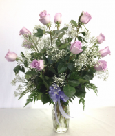 Dozen Lavender Roses    Call for availability