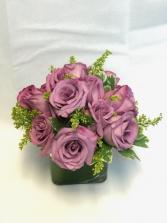 Dozen Lavender Roses Floral Arrangement