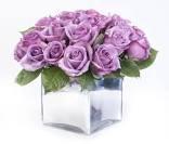 Dozen Lavender Roses Cubed Cube