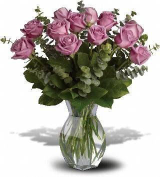 Dozen Lavender Roses Fresh flowers