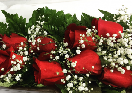 Dozen Long Stem Red Roses in a Box
