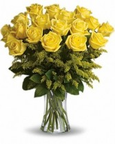 18 Long Stemmed Yellow Roses