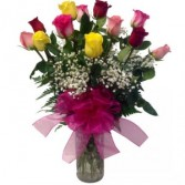 Dozen Mixed Color Roses Roses