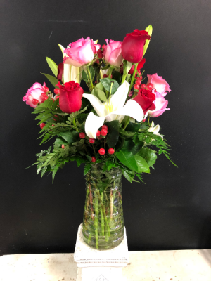 Dozen Mixed Roses  in Garner, NC | BLOOMIES ON 42 LLC.