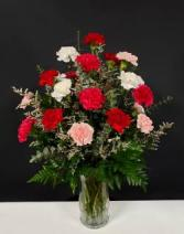 bundle of carnations floral arrangement