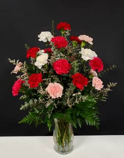 dozen of carnations floral arrangement