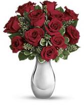DOZEN OF ROSES ELEGANT AND MIXTURE FLOWERS
