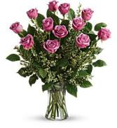 12 Lavender Roses   T68-1 Roses