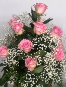 DOZEN PINK ROSES ROSES