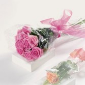 Dozen Pink Roses Wrapped in Love Roses Special
