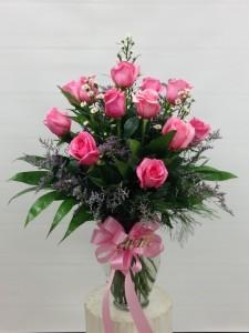 Dozen Pk Premium Roses Vased