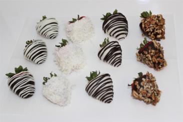 Dozen Premium Chocolate Dipped Strawberries Fruits & Berries