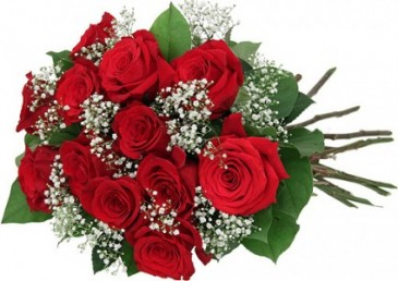 Dozen Premium Red Roses Presentation Style Bouquet