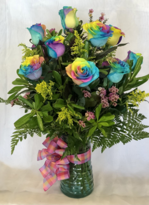 Dozen Rainbow Roses   in Virginia Beach, VA | FLOWER LADY