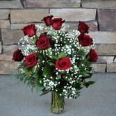 Dozen Red Rose Classic Rose Arrangement