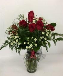 Dozen red roses Premium