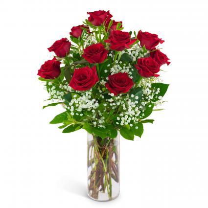 Dozen Red Roses and a Million Stars Arrangement