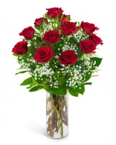 Dozen Red Roses and a Million Stars Arrangement in Burnt Hills, New York | THE COUNTRY FLORIST
