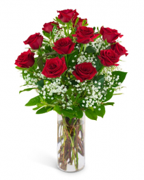 Dozen Red Roses and a Million Stars Arrangement