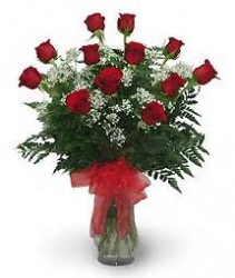 Dozen Red Roses Arrangemed