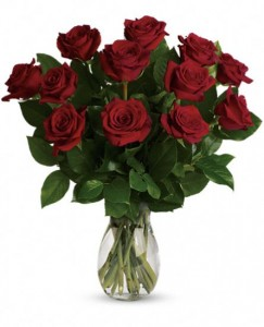 Dozen Red Roses Home