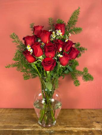 Dozen red roses Red Rose Arrangement