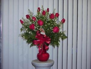 Dozen Red Roses Vase in Hialeah, FL | JACK THE FLORIST