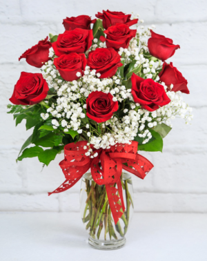 Dozen Red Roses With the works in South Milwaukee, WI | PARKWAY FLORAL INC.