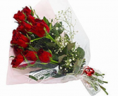 Dozen Red Roses Bouquet Wrapped