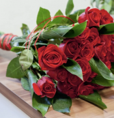 Dozen Red Roses Wrapped