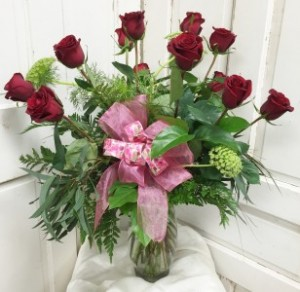 DOZEN ROSE BOUQUET BBS01 Red,  BBS02 Colors (Specify please) in Roswell, NM | BARRINGER'S BLOSSOM SHOP