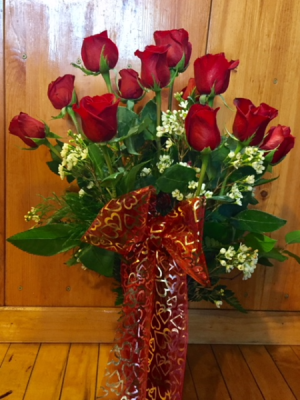 Dozen Rose Vased   in Fowlerville, MI | ALETA'S FLOWER SHOP
