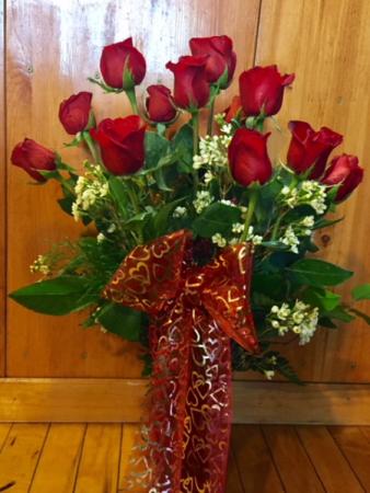 Dozen Rose Vased
