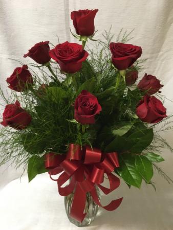 Dozen Rose with Greens