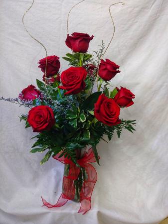 Dozen Roses 12 Premium Red Roses Arranged in a Vase