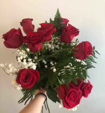 Dozen Roses  Wrapped Bouquet (No Vase)
