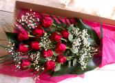 Dozen Roses in a box Cut Bouquet