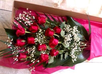 Dozen Roses Cut Bouquet