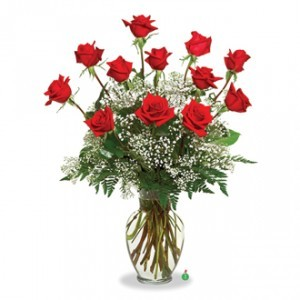I'LL LOVE YOU UNTIL THE LAST ROSE DIES 11 FRESH ROSES WITH ONE SILK ROSE THAT WILL NEVER DIE (LOCAL DELIVERY)
