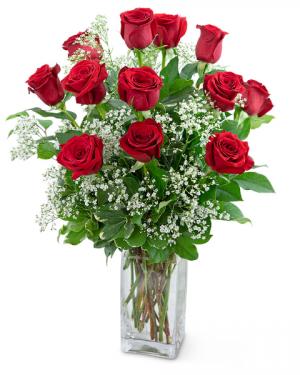 Dozen Roses in a Cloud Flower Arrangement in Nevada, IA | Flower Bed