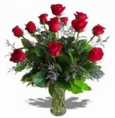 Dozen Roses in a Vase Vase arrangement