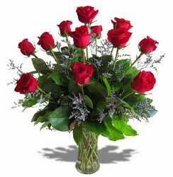 Dozen Roses in a Vase Vase arrangement  in Hutchinson, MN | CROW RIVER FLORAL & GIFTS